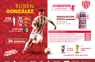 Necaxa compra definitivamente a Rubén González
