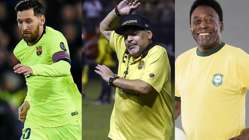 Maradona fue mejor que Messi; conmigo no se puede comparar a Lio: Pelé