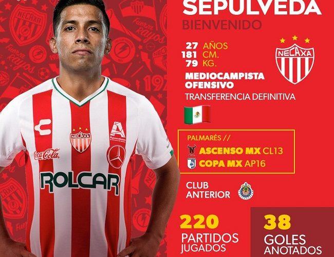 Ángel Sepúlveda es nuevo jugador de Necaxa