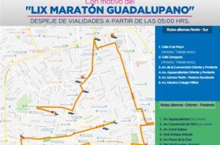 Anuncian cierre de calles con motivo del Maratón Guadalupano