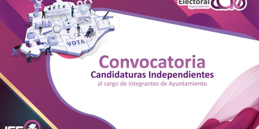 Lanza IEE convocatorias para aspirantes a candidaturas independientes