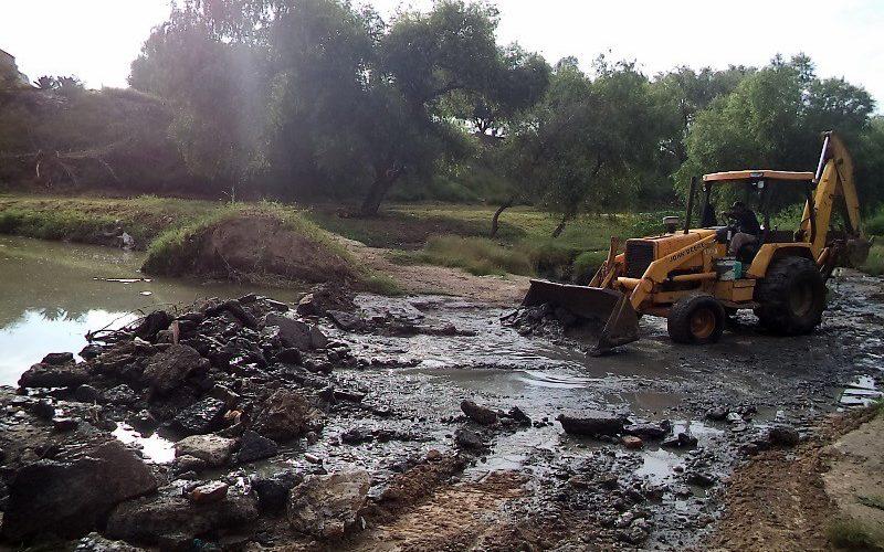 Avanzan trabajos de limpieza en el Río San Pedro
