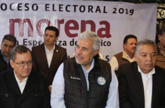 Viene Narro a dar manotazo en la mesa en Morena Aguascalientes