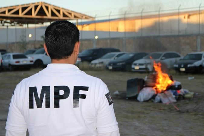 FGR incinera drogas en Aguascalientes