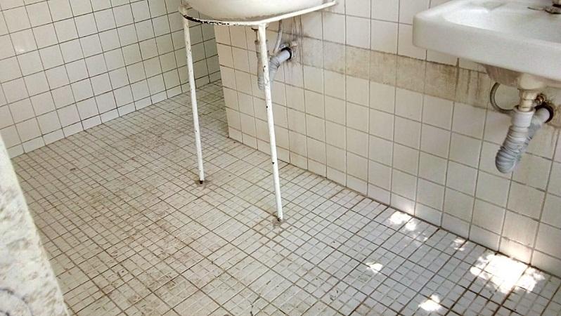 Denuncian pésimas condiciones de baños en el parque Hidalgo