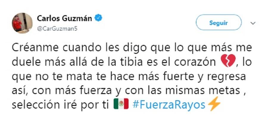 Carlos Guzmán se perdería el resto del C19 tras fractura
