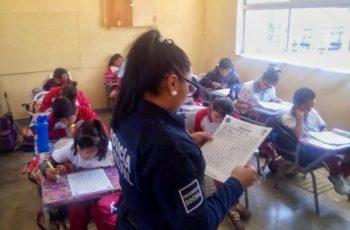 En JM previenen el delito mediante charlas en escuelas de educación básica