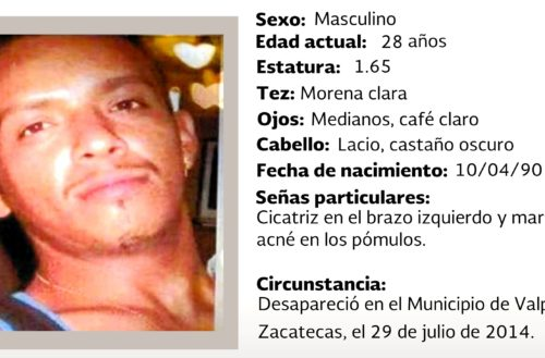 Buscan en Aguascalientes a zacatecano desaparecido