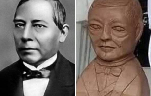 Busto alienígena de Benito Juárez costó 1,500 pesos