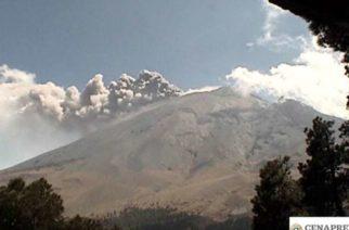 Pese a explosión, mantienen en amarillo fase 2 alerta volcánica del 'Popo'