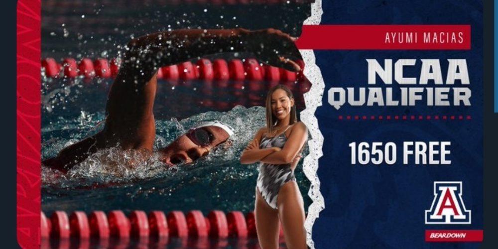 La aguascalentense Ayumi Macías competirá en nado dentro de la NCAA