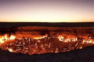 Un dron capta impresionantes imágenes de 'la puerta del infierno'