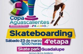 Este fin de semana se realizará cuarta etapa del Torneo Skateboarding