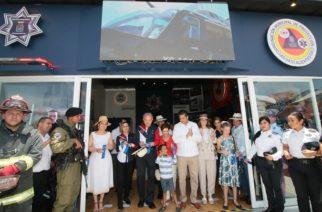 Inauguran stand didáctico del MuniAgs en la zona ferial
