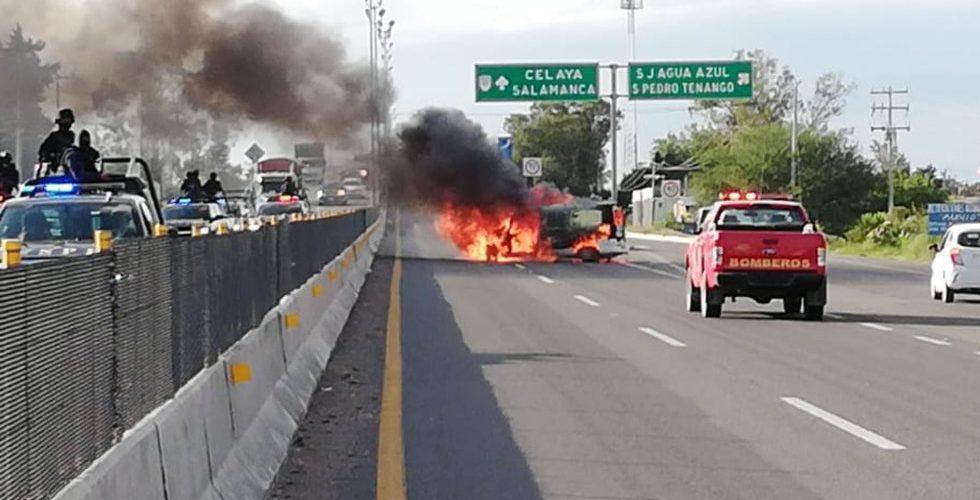 Cártel Santa Rosa de Lima ataca comandancia de Celaya