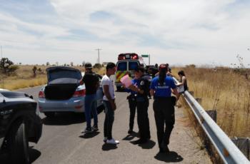Se registra accidente en la carretera de Norias de Ojocaliente a La Luz