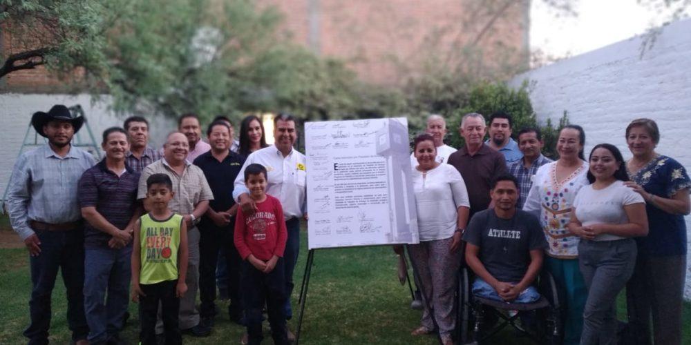 Firman sectores de Pabellón Carta de Intención con Cuauhtémoc Escobedo