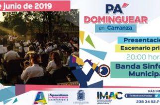 """Checa aquí la agenda de """"Pa' Dominguear en Carranza"""""""