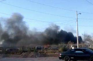 Incendio en la Pensión Municipal de Aguascalientes daña decenas de autos