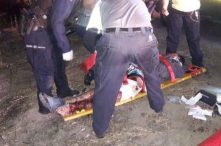 3 heridos y 1 detenido dejó choque entre motocicleta y automóvil en Aguascalientes