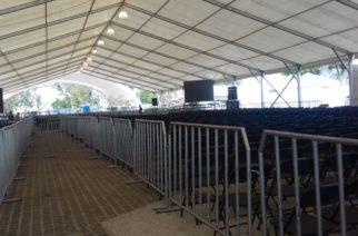 Casi listas las instalaciones de la Plaza del Mueble para recibir a AMLO