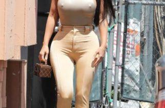 Kardashian derrite a fans con exuberantes curvas