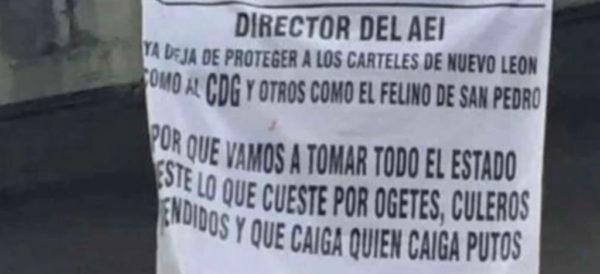 """""""Vamos a tomar todo el estado"""": aparecen 11 narcomantas del Cártel Jalisco Nueva Generación en Monterrey"""