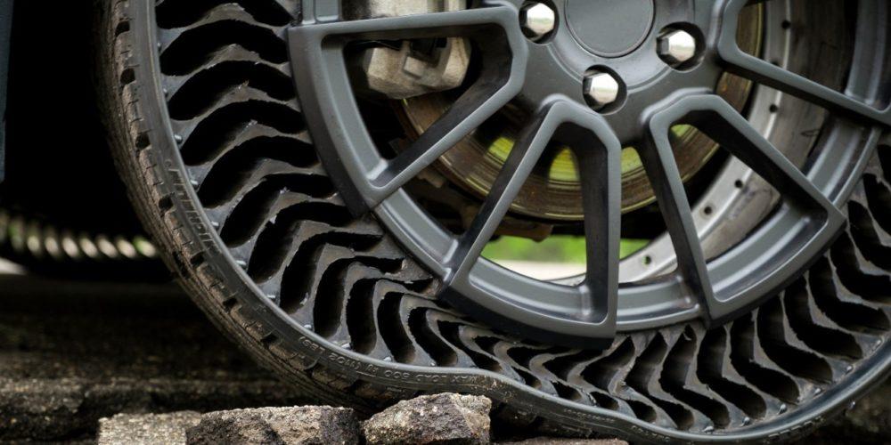 Michelin y General Motors diseñan un neumático que no se pincha