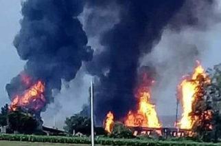 Autoridades de Celaya reportan explosión en ducto de Pemex (Video)