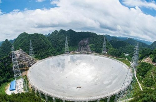 "Crean en China telescopio para ""cazar alienígenas"""
