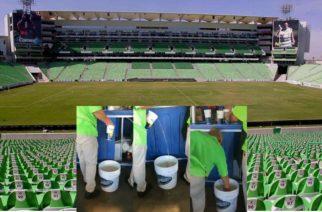 Venden cerveza de cubeta sucia en el Estadio TSM de Santos