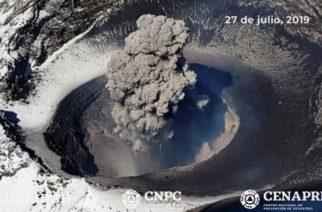 Confirma CENAPRED destrucción de domo en cráter del Popocatépetl