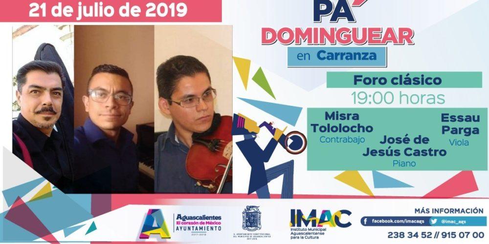 Checa aquí el programa de actividades de Pa' Dominguear en Carranza