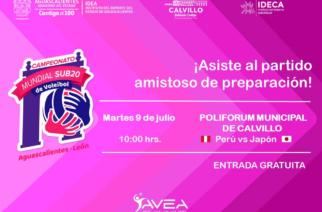 Calvillo albergará partido de voleibol mundial femenil Sub 20