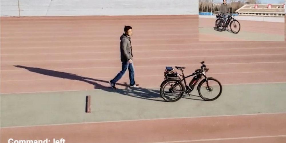 Crean en China bicicleta autónoma