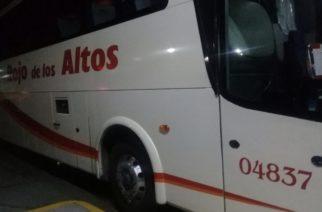 Sujeto subió con rifle a asaltar camión de pasajeros de San Juan a Aguascalientes