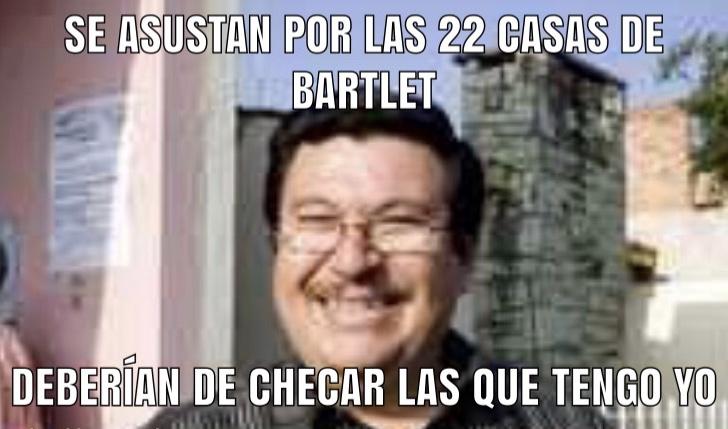 Se asustan por las 22 casas de Bartlet ….
