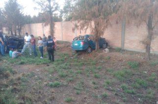 Se registra accidente contra objeto fijo en Rincón de Romos
