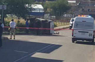 Volcadura deja un muerto en Calvillo, Aguascalientes