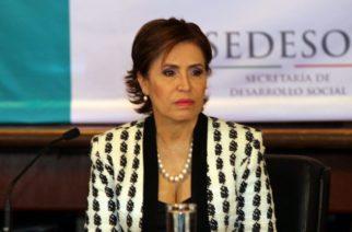 """Rosario Robles comparece por """"Estafa maestra"""""""
