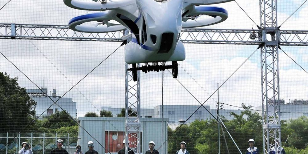 (Video) Presentan un automóvil volador en Japón
