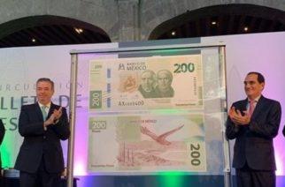 Presentan nuevo billete de 200 pesos