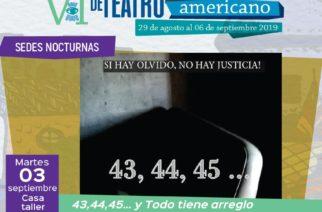Continúan actividades del sexto Encuentro Latinoamericano de Teatro