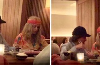Captan a Peña Nieto y a su novia disfrazados en restaurante de NY