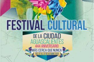 Municipio de Aguascalientes invita a la celebración del 444 aniversario de la ciudad