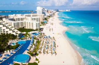 Turistas internacionales a la baja en Cancún