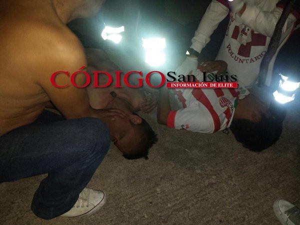 16 heridos dejó balacera entre aficionados del San Luis y Necaxa