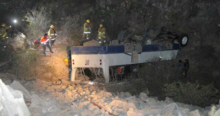Accidente de autobús deja 10 muertos en Durango