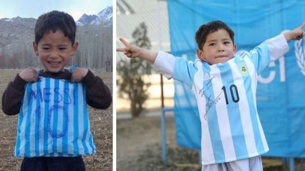 Messi cumple el sueño de Murtaza Ahmadi, el niño de la camiseta de plástico