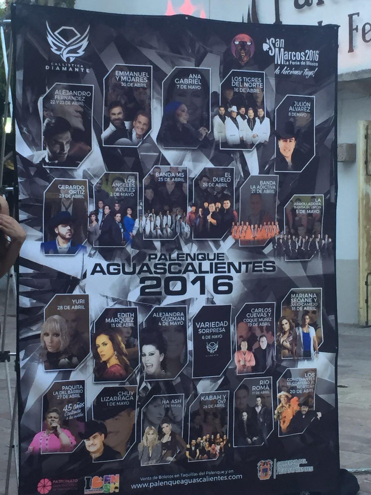 Presentan el elenco oficial del Palenque de la feria de San Marcos